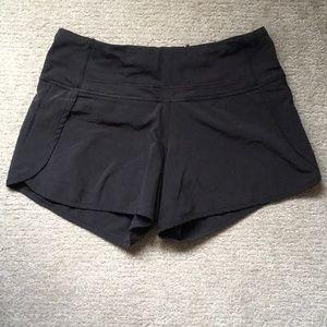 """Women's black """"Speed Up"""" Lululemon shorts"""